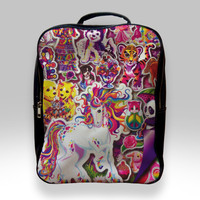 Backpack for Student - 90s Lisa Frank Collage Bags
