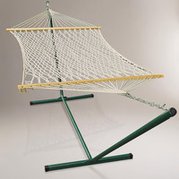 Cotton Rope Single Hammock with Stand - World Market