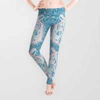 Pastel Quartz Tiger Leggings by Chobopop