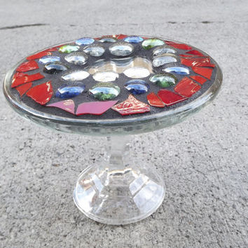 Mosaic Mirror Raised Display Tray
