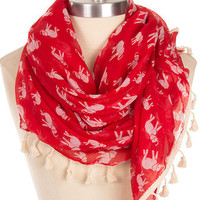 Lucky Elephant Scarf in Red