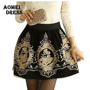 Black Grunge faldas Skirts Embroidery Vintage women Retro female Mini tulle skirt office work wear bottoms Skort