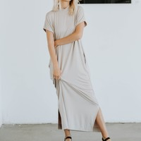 All Day Mock Neck Maxi