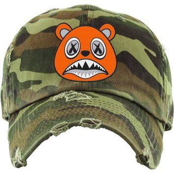 Orange Baws Army Camo Dad Hat