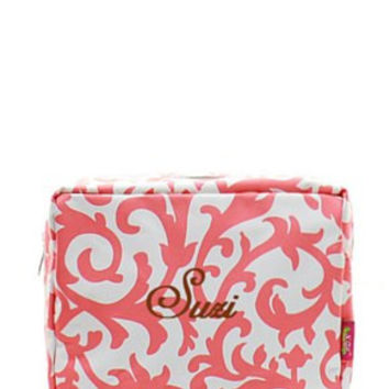 Damask Cosmetic Bag