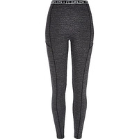 River Island Womens Grey flawless waistband leggings