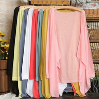 9 colours!New Arrival Women Sweater Knitted Cardigan Sweater Summer Sun Protection Clothing Thin Solid Casual Coat = 1920022276