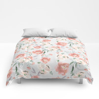 sweet peach Comforters by sylviacookphotography