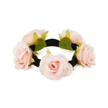Rose Décor Hair Tie