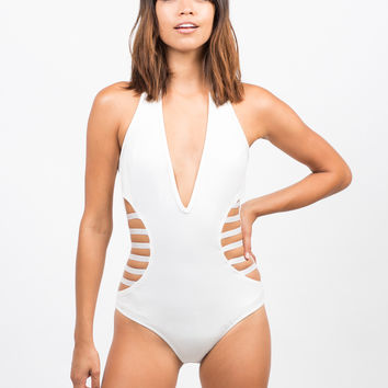 Caged In Halter Bodysuit