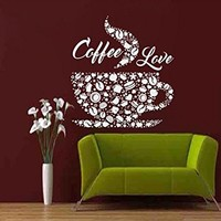 Coffee Wall Decals Cup Decal Vinyl Sticker Home Decor Interior Design Cafe Art Kitchen MN979