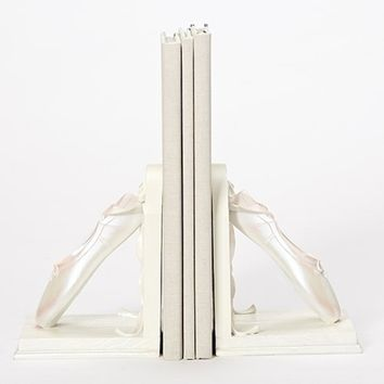 "7.75""H BALLET SHOES BOOKENDS 2 PIECE SET."