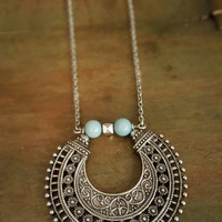 Eye Of The Beholder Necklace: Turquoise