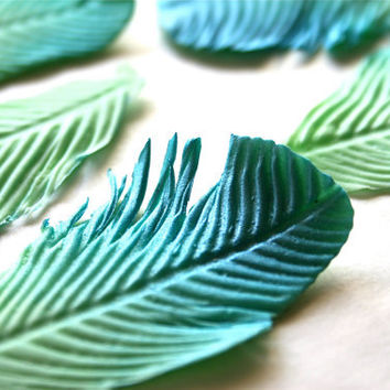 Edible Fancy Feathers custom color per 1 by andiespecialtysweets