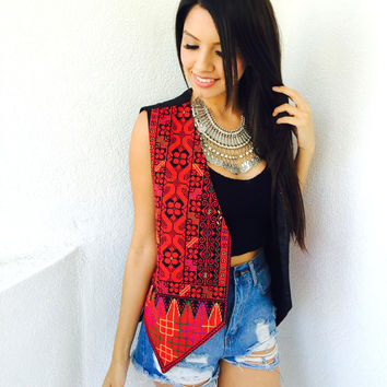 Lulu Hand Embroidered Vest {Boutique Collection}