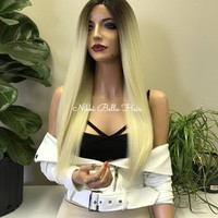 Blonde Ombré Hair SWISS Lace Front Wig - Tracey 111712*