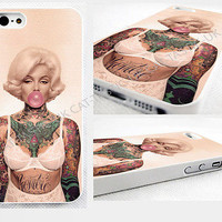 case,cover for iPhone and samsung>Marilyn Monroe/gum/VTG/Vintage/tattoo,tattoos