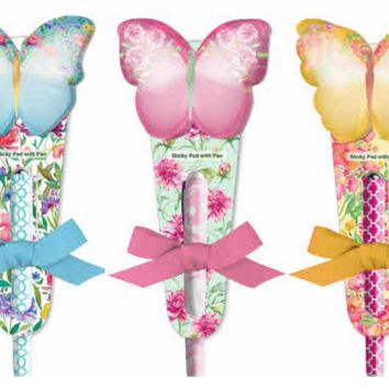 Butterfly Notepad and Pen Set