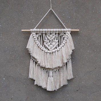 "15"" Small macrame wall hanging Girl's room decor Nursery wall decor Boho chic decor Unique birthday gift idea Gift for wife Mothers day gift"