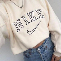 NIKE Round Neck Top Sweater Pullover Sweatshirt