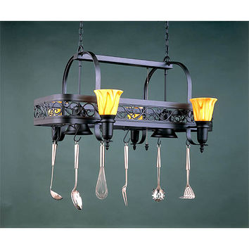 Hi-Lite H-10Y-D-BK01-SATURN-YELLOW Six-Light Pot Rack