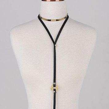 Come as You are Leather Choker: Grey