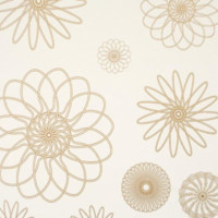 Graphic Circles Wallpaper in Ivory and Gold design by BD Wall