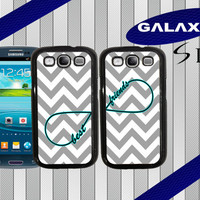 Best Friends Samsung S3 Case - Samsung Galaxy S3 Samsung Galaxy SIII - Infinity - Chevron S3 Case - Two Case Set