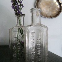 Vintage Glass Mini Apothecary Bottles
