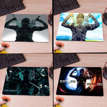 Kirigaya Kazuto Sword Art Online Computer Mouse Pad Mousepad Decorate Your Desk Non-Skid Rubber Pad
