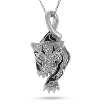 The Prowl Panther Necklace (.925 Sterling Silver)