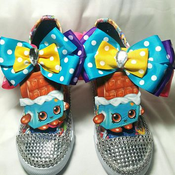 Shopkins Limited Bling Edition CHEEKY CHOCOLATE Inspired Shoe (CONVERSE)
