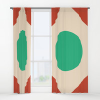 Red Peak Window Curtains by spaceandlines