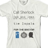 Superwholock-Unisex White T-Shirt