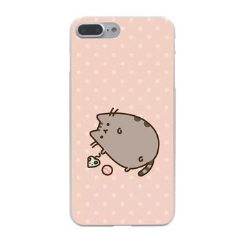 Pusheen Cat -Hard Coque Shell Case for iPhone 10 X 8 7 6 6s Plus 5 5S SE 5C 4 4S