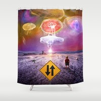 The Day of the Jellies Shower Curtain by Peter Gross