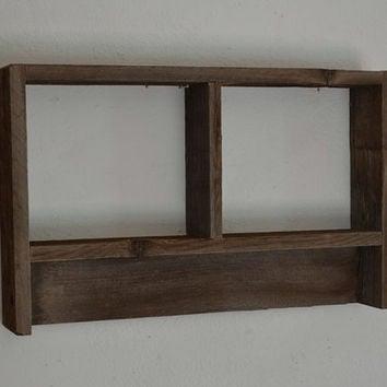 Reclaimed wood wall shelf 12 by 19 stunning patina