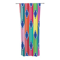"Anneline Sophia ""Blanket"" Rainbow Tribal Decorative Sheer Curtain"