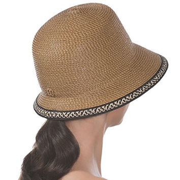 Eric Javits Women's Headwear Squishee Bucket Hat (Natural/Black Mix)