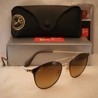 Ray Ban 3546 Gold/Brown w Brown Gradient Lens (RB3546 900985 49 mm size)
