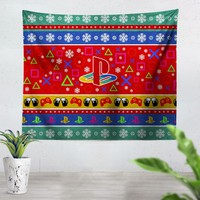 Playstation Christmas Tapestry
