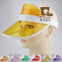 24 pcs/lot Summer holiday Neon rave sun shade retro party cap plastic visor sun hat rave festival fancy dress poker headband