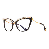 Anna-Karin Karlsson Lusciousness Divine Pearl Cat-Eye Optical Frames, Black