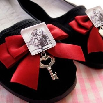 Alice and The Door to Wonderland Mary Jane Shoes  by emandsprout