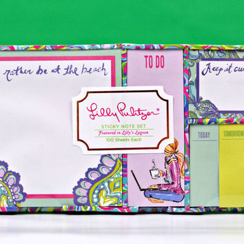 LILLY PULITZER: Sticky Note Set - Lilly's Lagoon