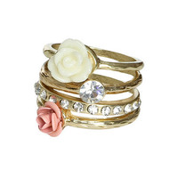 Double Flower Stackable Ring | Shop Accessories at Wet Seal