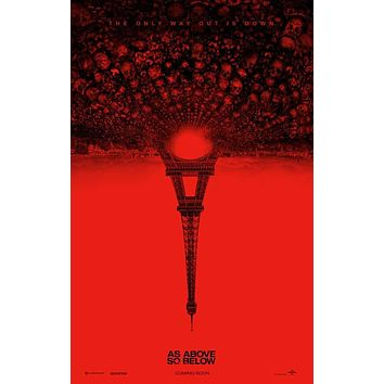 As Above, So Below 11x17 Movie Poster (2014)