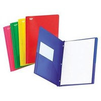 """Oxford® 11 x 8 1/2 Two-Pocket 1/2"""" Capacity Portfolio with Tang Fastener- Assorted Colors (25 per Box)"""
