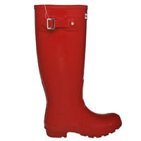 ® Hunter Women's Rain Boot - Glossy Red