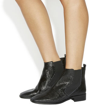 Office Luminate Chelsea Boots Black Lizard Leather - Ankle Boots